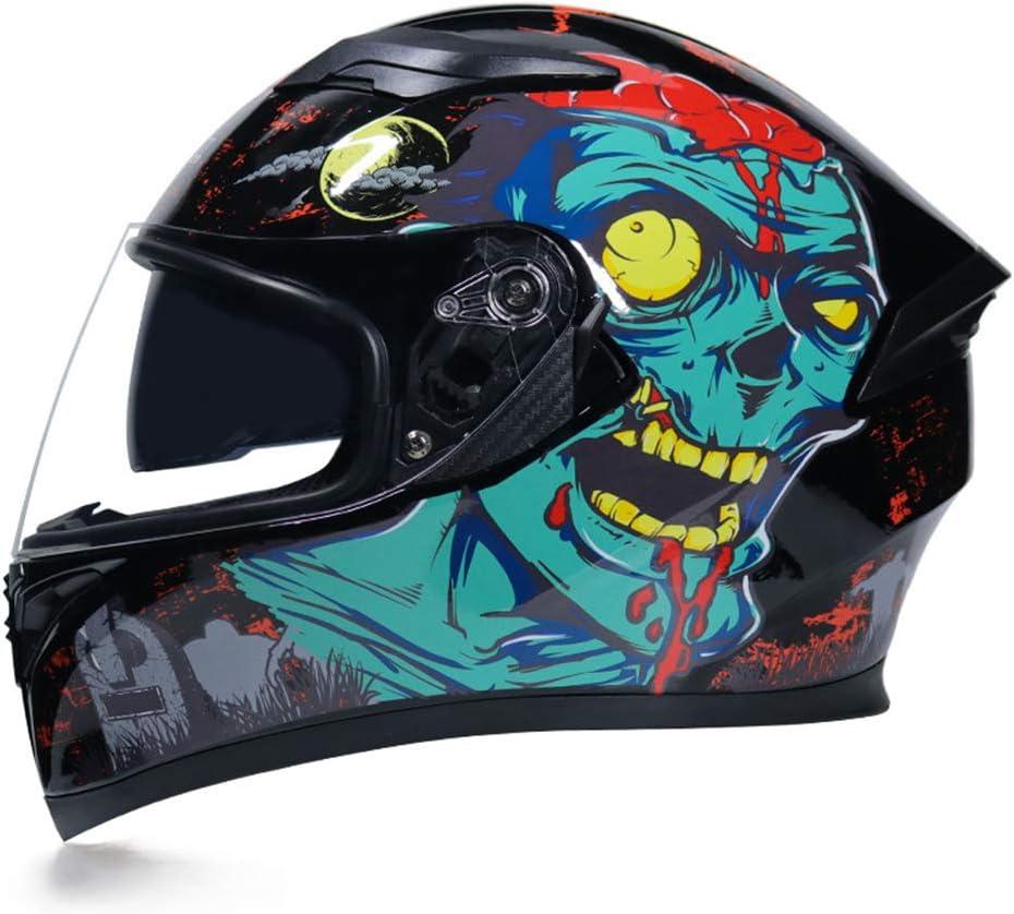 Motesen Casque de moto int/égral 3//5 casques de moto pour hommes casque de moto d/éconnexion rapide moto casque rabattable casque de moto r/étro r/éfl/échissant