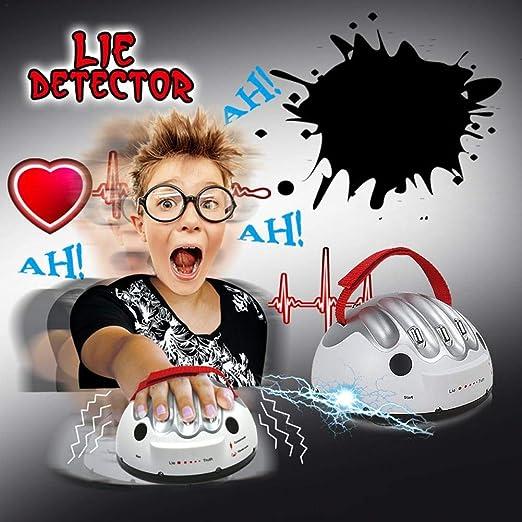 Detector de mentiras eléctrico, Juego novedad Interesante Micro Electric Shocking Juego detector mentiras mentiroso, Juego detector mentiras para adultos, Juguete prueba corriente segura Verdad Juego: Amazon.es: Hogar