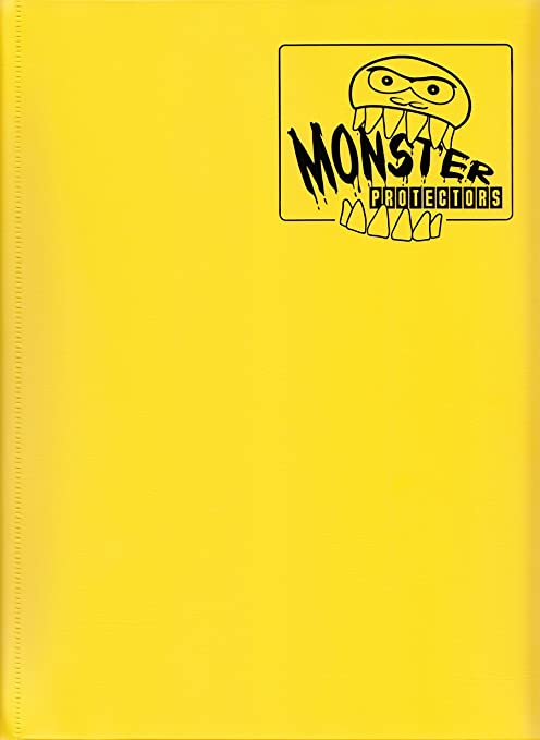 Monster Binder - 9 Pocket Trading Card Album - Matte Yellow (Anti-theft Pockets Hold 360+ Yugioh, Pokemon, Magic the Gathering Cards)