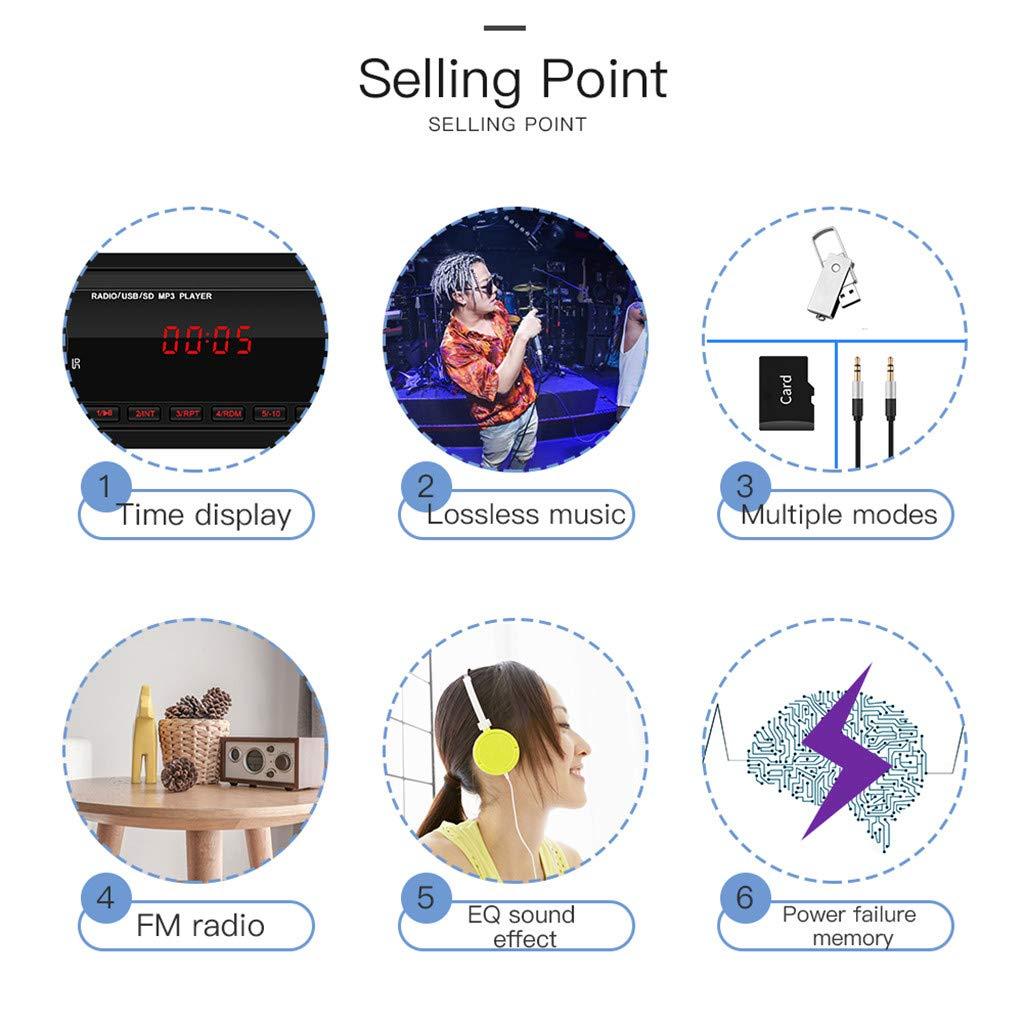 funci/ón USB//AUX Radio de Coche USB Reproductor de MP3 Reproductor de MP3 para Coche Radio FM est/éreo SD Reproductor de MP3 para Coche
