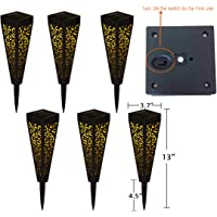 6-Pieces Go2garden Outdoor Solar Pathway Garden Lights (Black)