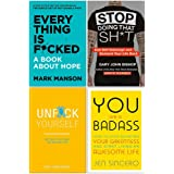 Every Thing Is Fcked [Hardcover], Stop Doing That Sh*t, Unfuk Yourself, You Are A Badass 4 Books Collection Set