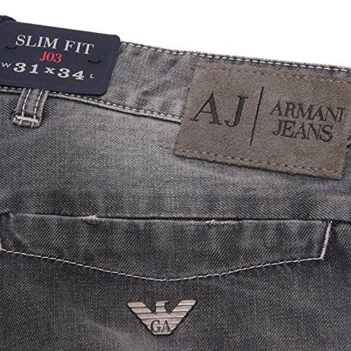 1899W Armani Grigio Grey Men uomo Jeans Denim Trouser Jeans RnPnwpHxqC