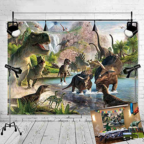 (Art Studio Photography Backdrops Dinosaur Kingdom Photo Studio Props Jurassic Park Party Decoration Supplies Photo Background Booth Vinyl 9x6ft )