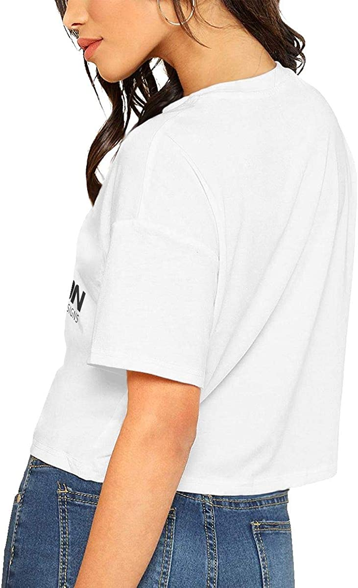 Kemeicle Womens Inception Designs Short Sleeve Crop Top T-Shirt