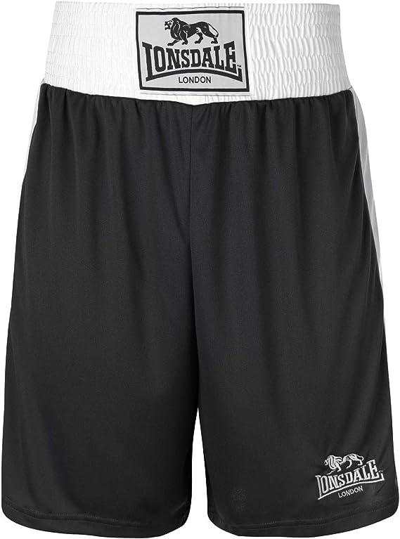 XXL Lonsdale White Satin Boxing Shorts