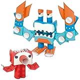 パイプロイド(PIPEROID) オクト&デカ 2-in-1 紙工作 ロボット キット