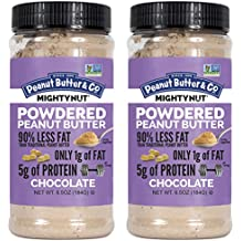Peanut Butter & Co. Mighty Nut Powdered Peanut Butter, Non-GMO, Gluten Free, Vegan, Chocolate, 6.5 Ounce Jars (Pack of 2)