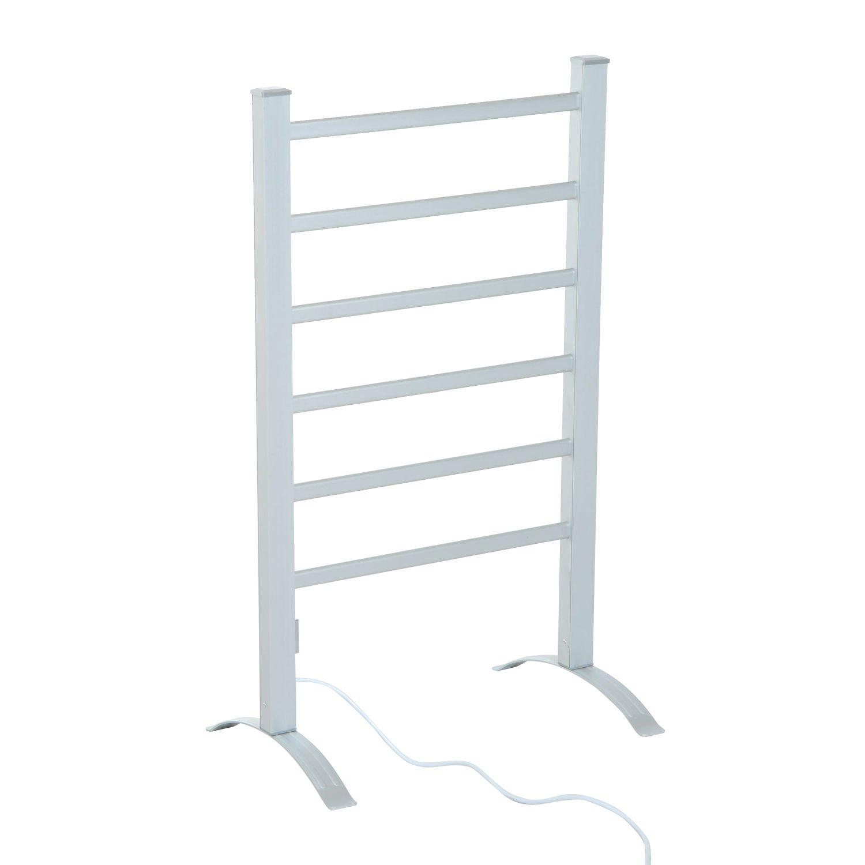 HomCom 6-Bar Freestanding Lightweight Aluminum Electric Towel Warmer Drying Rack by HOMCOM