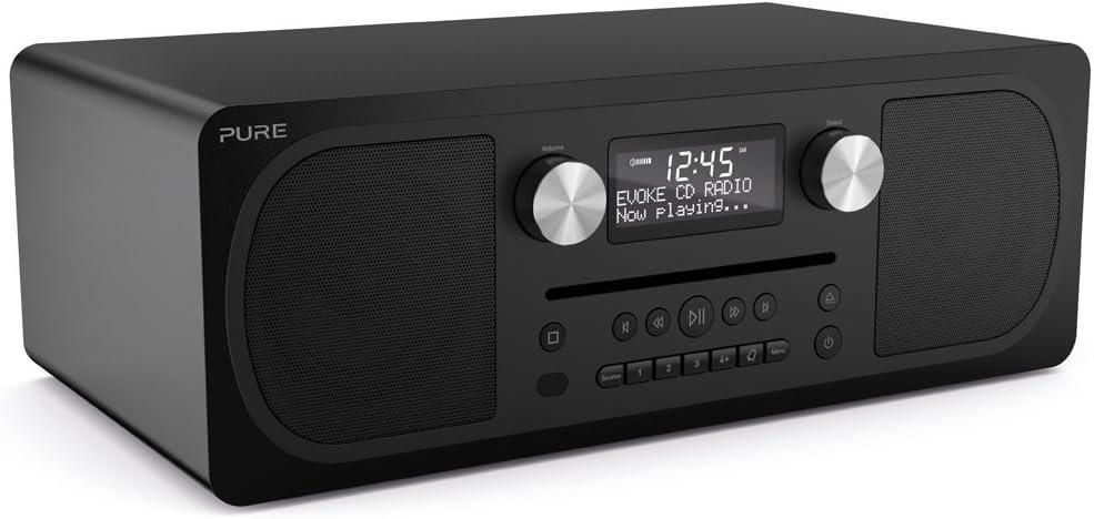 Pure C-D6 - Sistema musical todo en uno (DAB/DAB+ ed FM, CD-Player, Bluetooth, AUX)