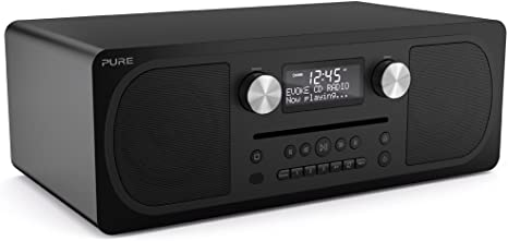 Siena Black Pure Evoke C-D6 Stereo All-in-One Music System with DAB+//FM Radio CD Player and Bluetooth