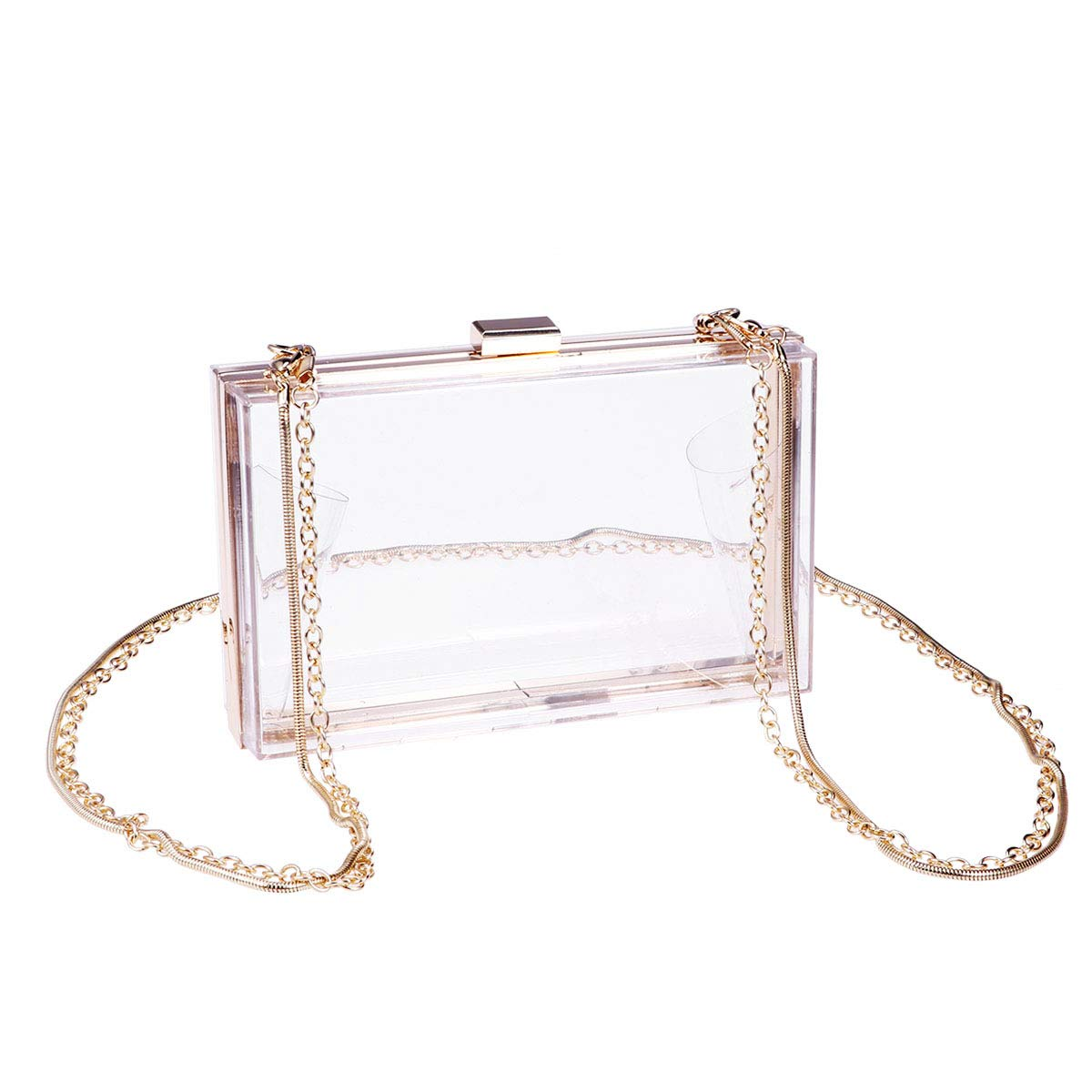 570815080703 Details about BESTOYARD Box Clutch Transparent Clear Crossbody Handbag  Acrylic Evening Bag