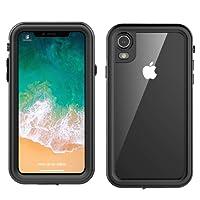FindaGift iPhone Xr Waterproof Cover,Custodia Impermeabile iPhone Xr ,[IP68 Certificato] [Impermeabile] Custodia Impermeabile Corpo Completo con Protezione Incorporata Dello Schermo per iPhone Xr – Nero