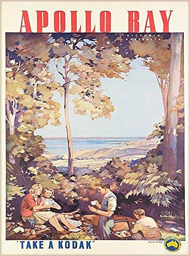 (American Magnet MAGNET Apollo Bay Victoria Australia Vintage Travel Advertisement Art Magnet Print)