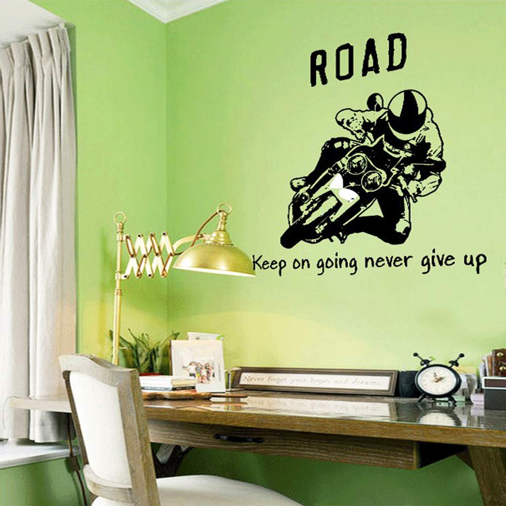Wall Decals Quote Stickers Vinyl Peel Stick Mural Art Wallpaper Kids Children Baby Family Bedroom Living Room Nursery Room School Home Decor Removable Quote Never Give Up Cool Wall Decal Sticker Vinyl