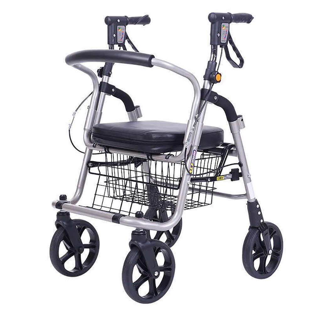 Plegable 4 ruedas Andador Walker altura ajustable carrito de ...