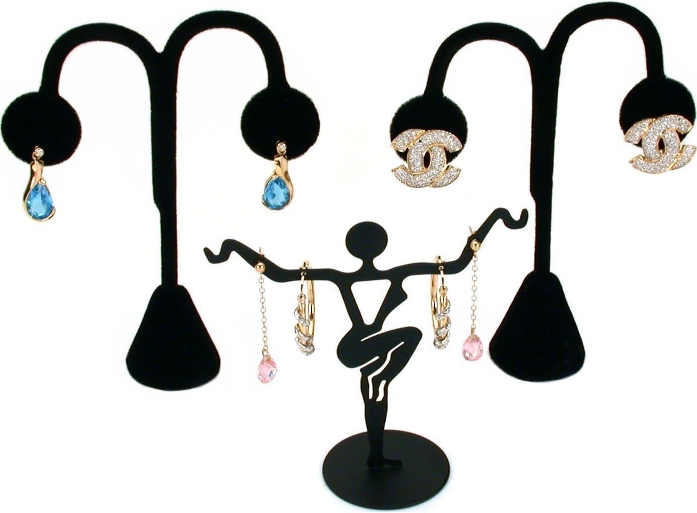 11 Pc Set Black Velvet Jewelry Displays Busts Bonus New