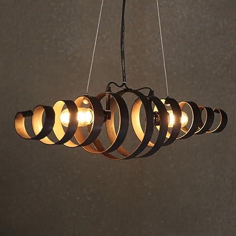 Candelabros de techo LOFT Vintage lámpara espiral lámpara retro lámpara colgante lámpara de hierro lámpara industrial lámpara colgante lámpara ...