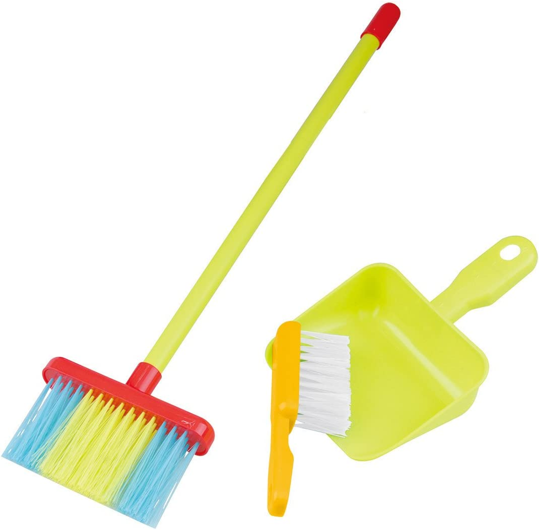 playgo My Cleaning Tools Set 3Pcs Housekeeping Broom Mini Brush & Mini Shovel Dustpan Children | Toy Cleaning Supplies That Work! Montessori Housekeeping Tools That Fit Into Kid's Hands