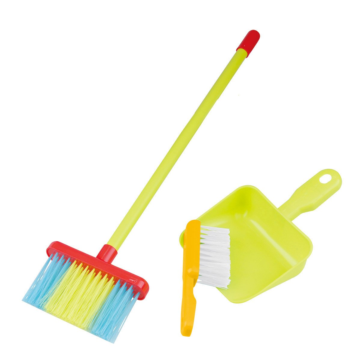 PlayGo My Cleaning Tools Set 3PCS Housekeeping Broom Mini Brush & Mini Shovel Dustpan Children | Toy Cleaning Supplies That Work! Montessori Housekeeping Tools That Fit Into Kid's Hands by PlayGo