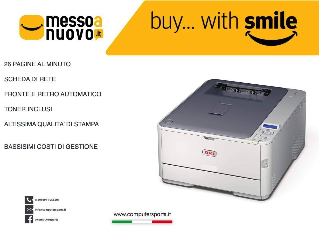 OKI ES5431 - Impresora láser de Colores Duplex Red, tóner Incluido ...