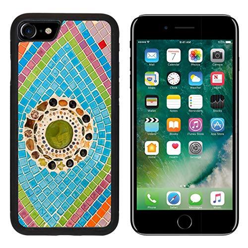 Glazed Aluminum - MSD Apple iPhone 8 Case Aluminum Backplate Bumper Snap Case Image ID 24808904 Colorful Glazed Tile