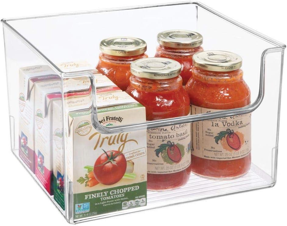 mDesign Caja de almacenaje de alimentos – Organizador de nevera ...