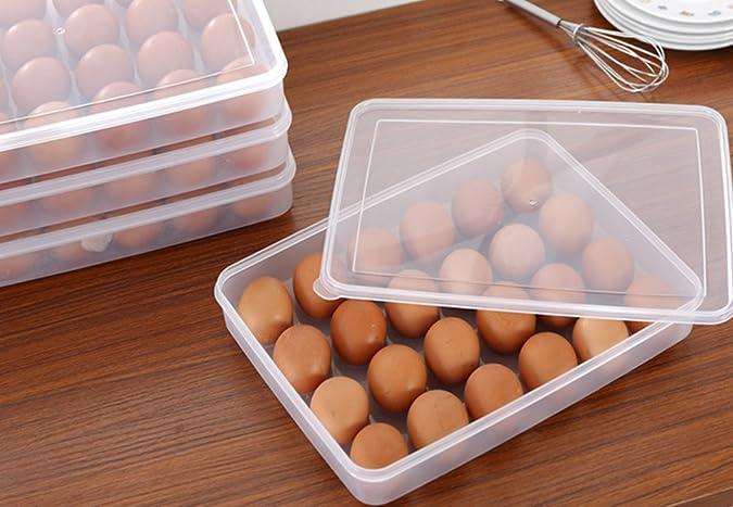 Kühlschrank Aufbewahrungsbox : Doppellagen eier aufbewahrungsbox halter körbe organizer