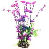 Plante Artificielle Fleur Aquatique Plastique Violet Bleu Déco pour Aquarium
