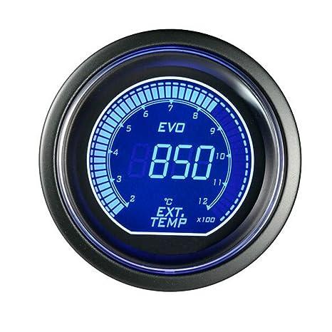 "mintice ™ 2 ""52 mm azul rojo LED Digital de coche turbo boost Vacuum"