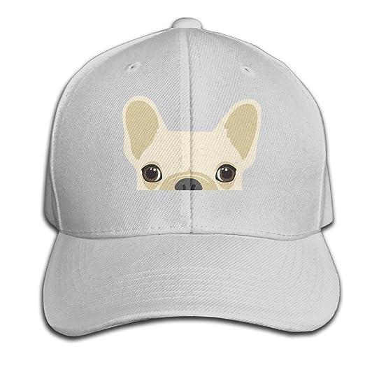 CSYSMZ Funny French Bulldog Baseball Cap Unisex Fishing Caps Peaked Hats Ash a240a9c0550
