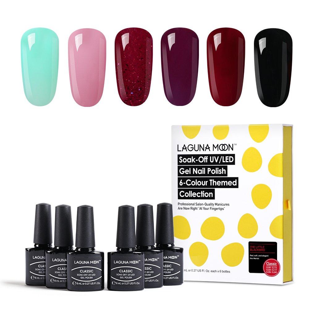 Amazon.com : Lagunamoon Gel Nail Polish UV Led Soak Off Gel Polish ...