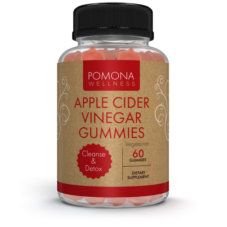 Pomona WELLNESS Apple Cider Vinegar Gummies with B Vitamins for Immune Support, Detox and Cleanse   Healthy Weight Management for Women & Men   60 Gummy Bottle