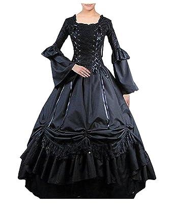 57f2e98b956 Tiny Time Damen Viktorianisch Platz Halsband Gotisch Dress Kleid  Abschlussball (XL)