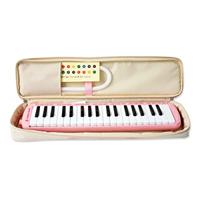 Youngchang 37 Piano Keys Students Melodica Musical Instrument with Carrying Bag - Pink YM-NC37: Musical Instruments