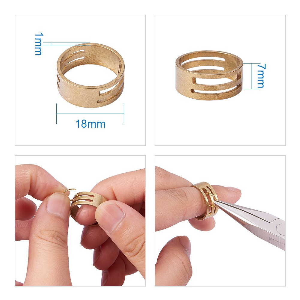 Extender Chain PandaHall Elite About 500 Pcs Jewelry Finding Kits with Ribbon Clamp End Jump Ring Lobster Claw Clasps Drop Ends for Jewelry Making Golden