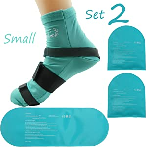 Cold Therapy Socks (w/Compression Strap) - Ice Pack Socks Man/Woman Cooling Socks Gel Ice Treatment for feet, Heels, Swelling, Arch Pain