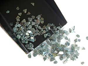 10 Carat Weight, Blue Diamond Slices, Natural Blue Rough Diamond, Raw Uncut Diamond Chips, 2-5mm Approx