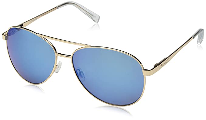 fe14cacfa5e9 Amazon.com  Steve Madden Women s Sm482166 Aviator Sunglasses Gold ...