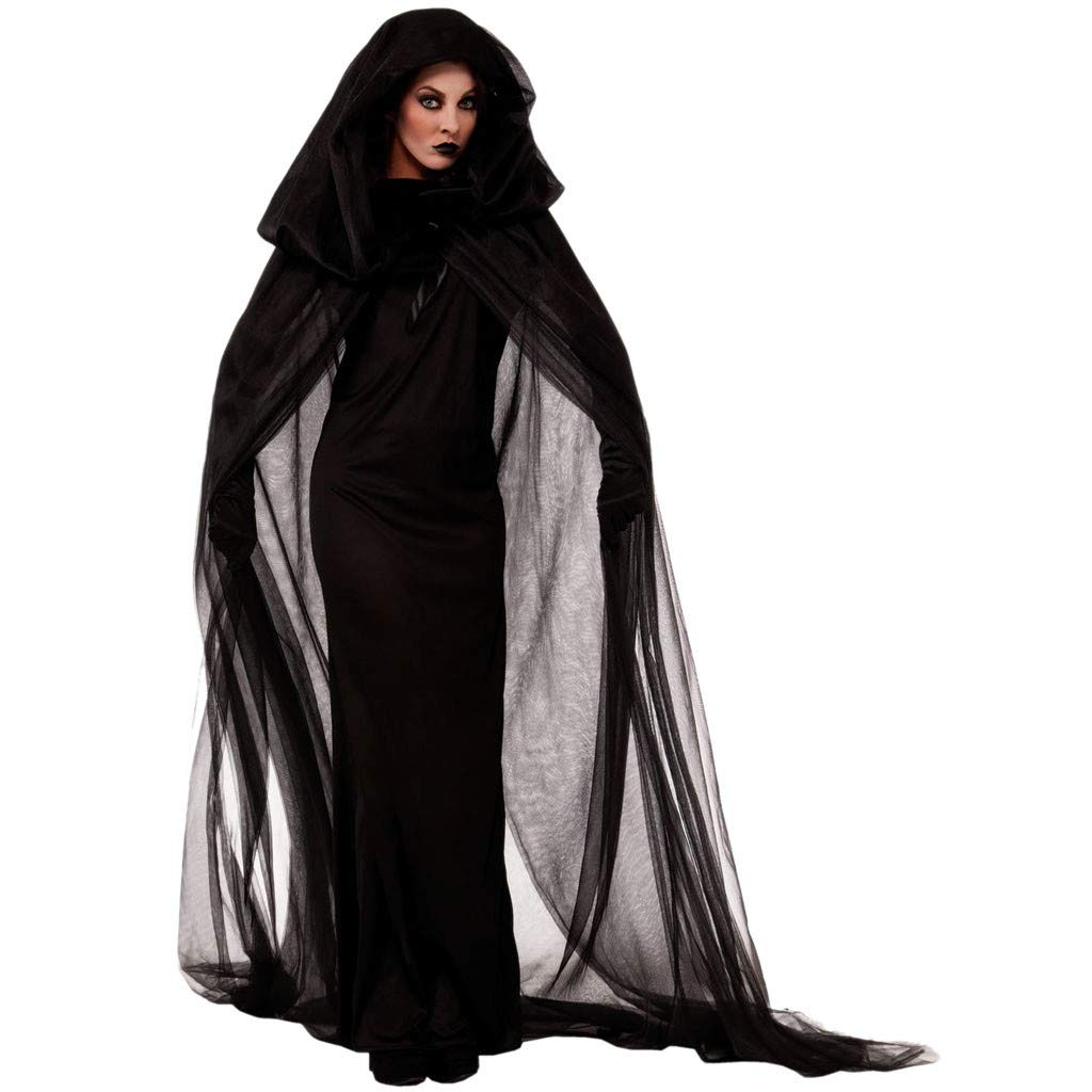 FIN86 Women Halloween Cosplay Costume Vintage Vampire Horror Bride Long Dress by FIN86