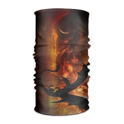 Bing4Bing Unisex Bandanas Balaclava Cap Turban Headscarf Sweatband Headwear Headscarf Dark Dragon