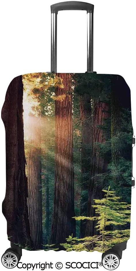SCOCICI Silhouette of a Ancient Tree Against Giant Moon Starry Sky Fantastic Suitcase Cover Protective Luggage Cover Customized Fits 19-32 Inch