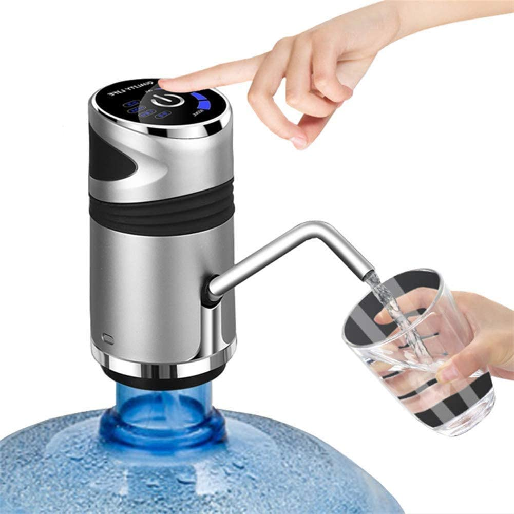 USB Charging Automatic Drinking Water Pump Portable Electric Water Dispenser Water Bottle Switch for Universal 5 Gallon Bottle Touch Screen Water Dispenser with Child Lock Water Bottle Pump