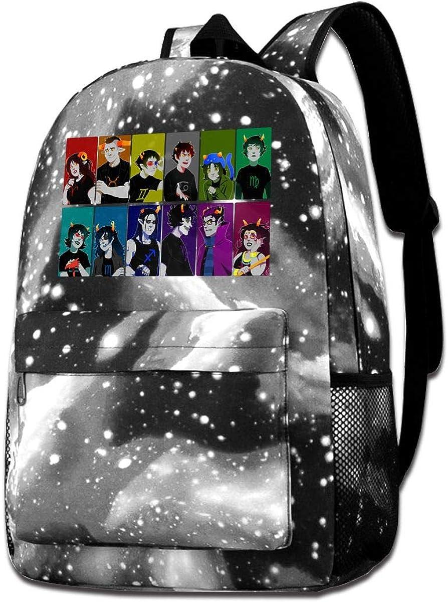 Homestuck Starry Sky Lightweight Travel Backpack Laptop Backpack Large Diaper Bag Doctor Bag Backpack School Backpack For Women & Men