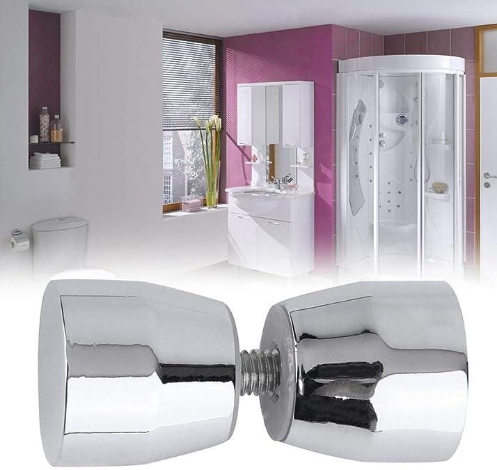 Silber Solide Duscht/ürgriff Zugknopf Verchromt Kegelf/örmig Elegant Home Badezimmer Ornamentik Silber