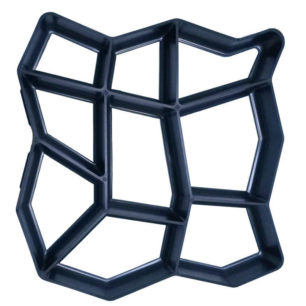 "Plastics Walking Path Maker Brick Mold for Concrete, DIY Path Maker Brick Mold Concrete Molds for Stepping Stones Garden Pavement Mold Paver Mold Pathmate Stone Mold Reusable 17"" 17"""