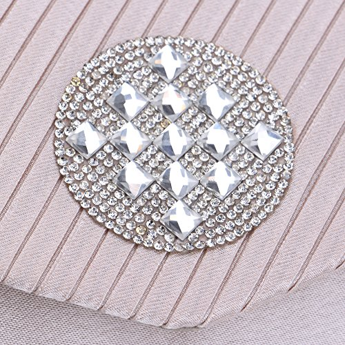 Clutch Rhinestones Handbag Chain Bag Red Purse Evening With Strap Women Envelope Wedding q7TnE