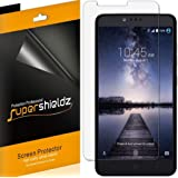 [6-Pack] Supershieldz- Anti-Bubble Clear Screen Protector for ZTE ZMAX Pro -Lifetime Replacements Warranty - Retail Packaging