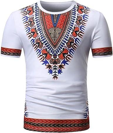 Camiseta para Hombre, Camisas de Hombre Manga Corta, Camiseta de impresión de Moda de Verano para Hombres Camisa Casual de Manga Corta Tallas O Neck Pullover Manga Corta Camiseta Top Blusa (L):