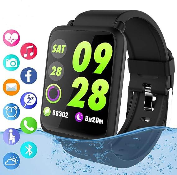 HealthWatch SmartWatch Fitness Activity Tracker Fitness Tracker IP67 Waterproof Smart Bracelet with Heart Rate Monitor Activity Health Tracker